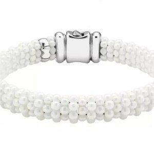 LAGOS White Caviar Sterling & 18K Bracelet